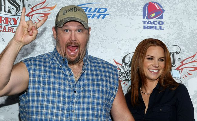 Larry the Cable Guy And Cara Whitney 2009